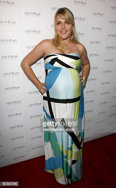 Busy Phillips arrives for the book release party Of 'The Hot Mom To Be Handbook Womb With A View' on April 2 2008 at Pea in the Pod in Beverly Hills...