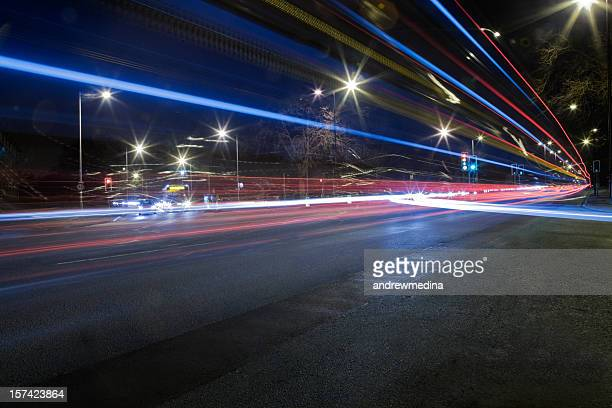 Busy Road Junction at Night-See lightbox below for related images