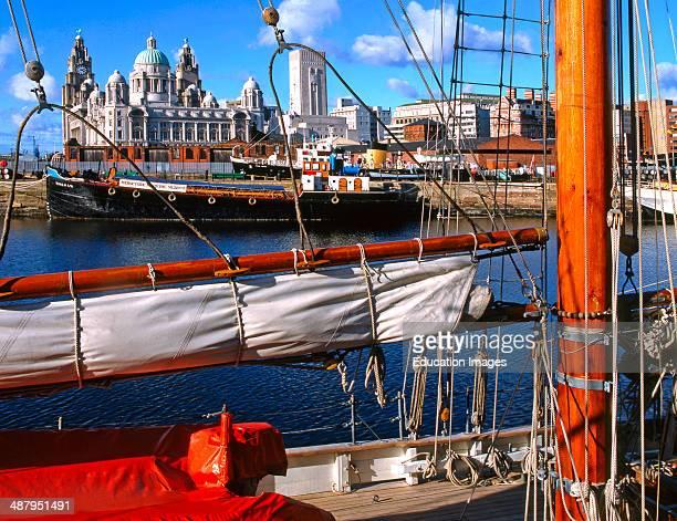 Busy Scene In Liverpools Albert Dock Merseyside