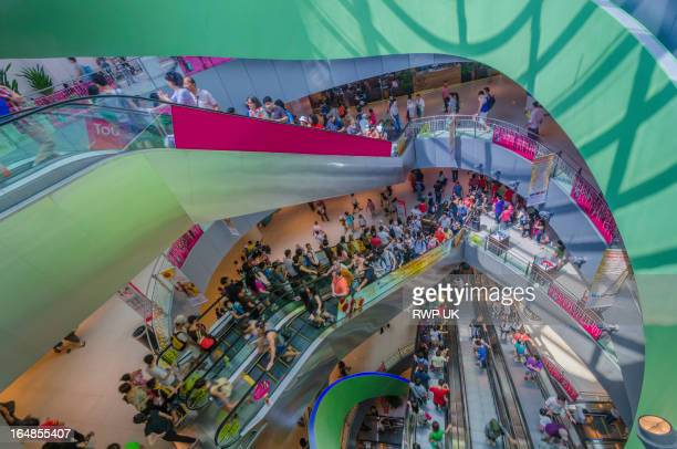 Busy Shopping Centre Singapore