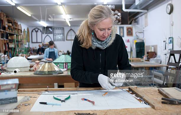 Busy stained glass studio