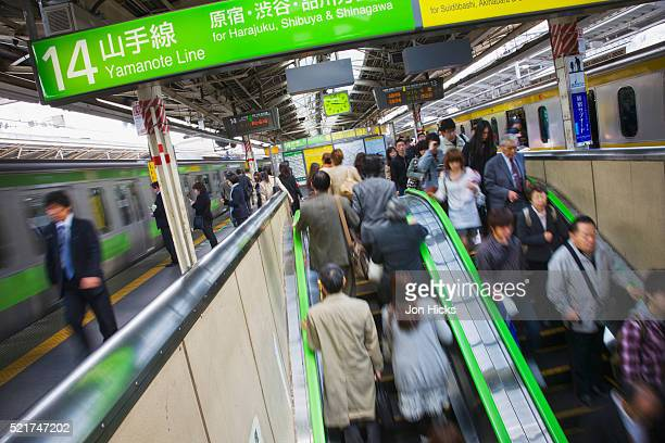 A busy station on the Yamanote Line