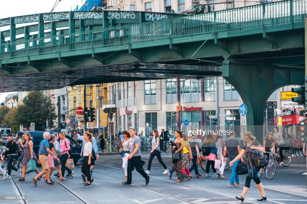 Busy Street In Berlin Germany High-Res Stock Photo - Getty Images