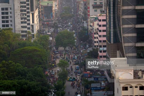 Busy street in Dhaka Bangladesh on April 19 2018 At least 4284 people including 516 women and 539 children were killed and 9112 others injured in...