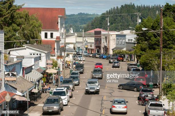 Busy street in Florence Oregon USA