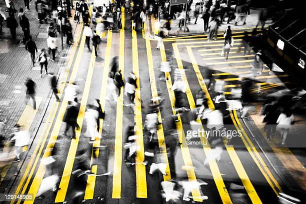 Busy street in Hong Kong