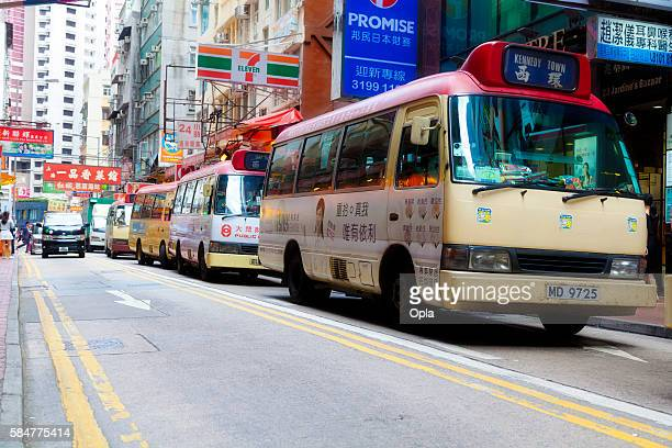 Busy street in Hong Kong