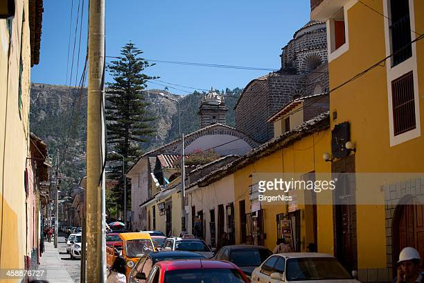Busy street in Huamanga, Peru