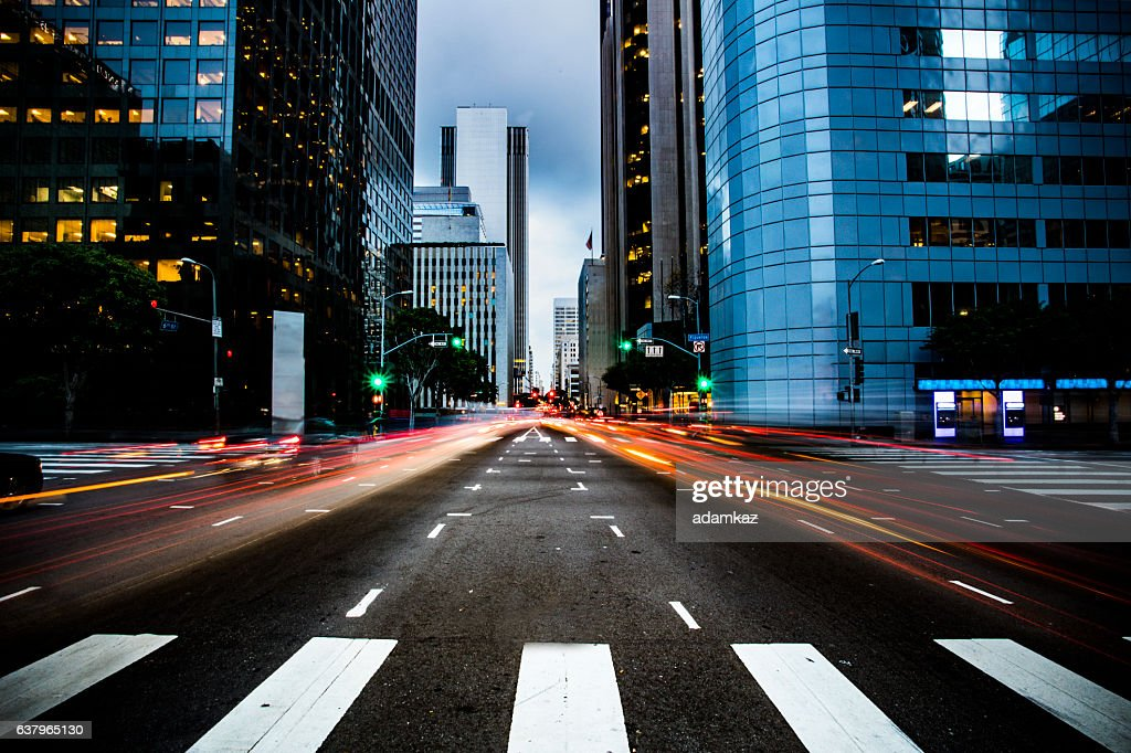 Busy Street in Los Angeles : Stock Photo