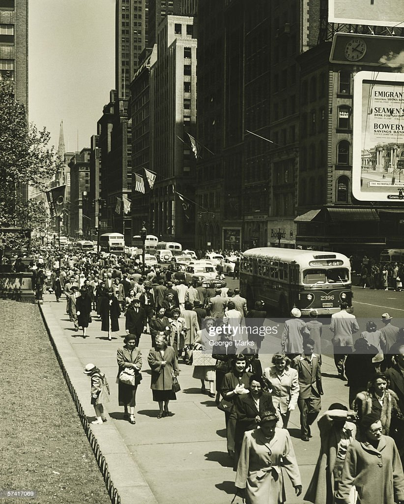 Busy Street In New York City Stock Photo