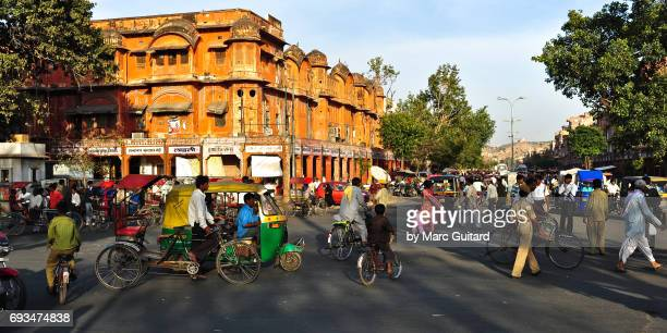 Busy Street. Jaipur, Rajasthan, India