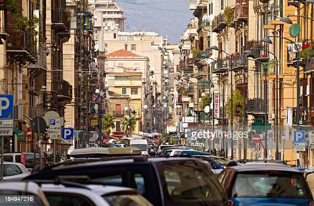 Busy street, Palermo, Italy