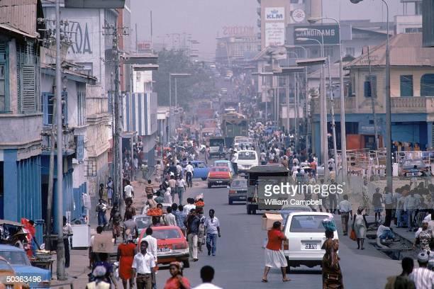 Busy street scene.