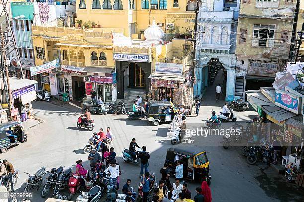 Busy Street Scene, Udaipur, Rajasthan, India