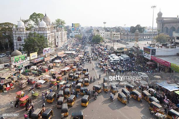 Busy street scene,Hyderabad,India