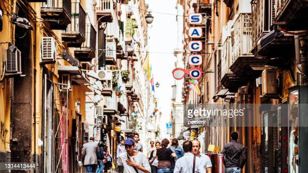 """busy streets of naples, italy - """"peeter viisimaa"""" or peeterv stock pictures, royalty-free photos & images"""