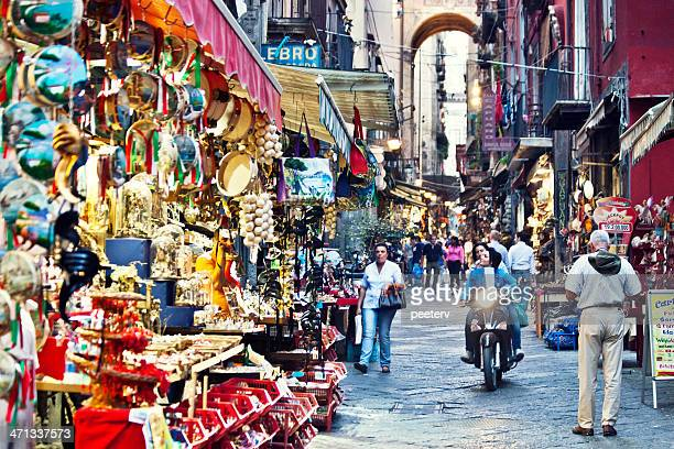 busy streets of naples. - napoli stock pictures, royalty-free photos & images