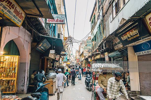 Busy streets of old Delhi