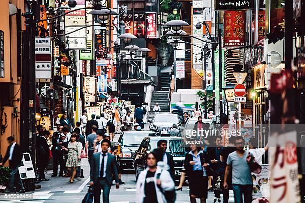 Busy streets of Tokyo. Akasaka district.