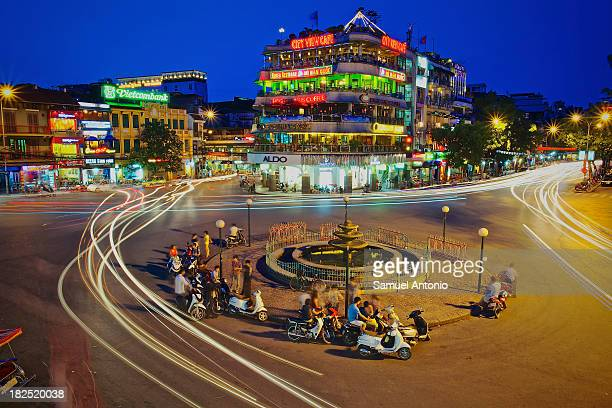 CONTENT] Busy traffic city intersection in the historic Old Quarter of Hanoi Vietnam Vietnam's dynamic capital is home to more than six million...