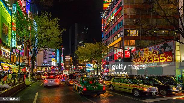 Busy Traffic in Shinuya Ward ,Tokyo,Japan
