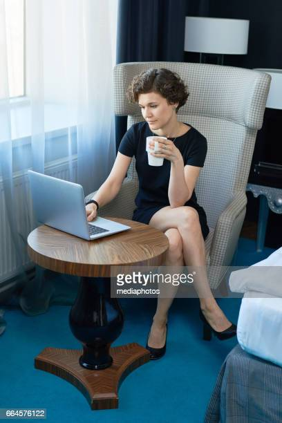 Busy woman at work