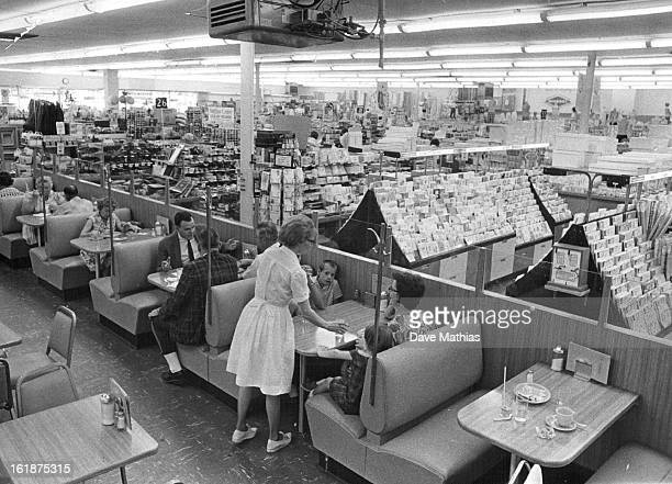 Busy Woolworth Lunch Area Serves Customers; Bob Ross, Woolworth manager, with company many years.;