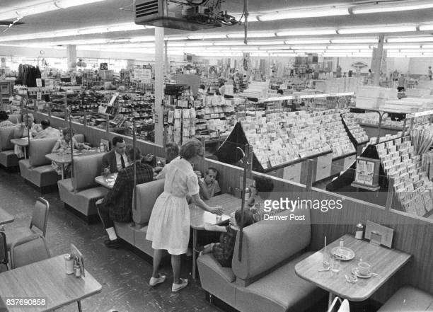 Busy Woolworth Lunch Area Serves Customers Bob Ross Woolworth manager with company many years Credit Denver Post