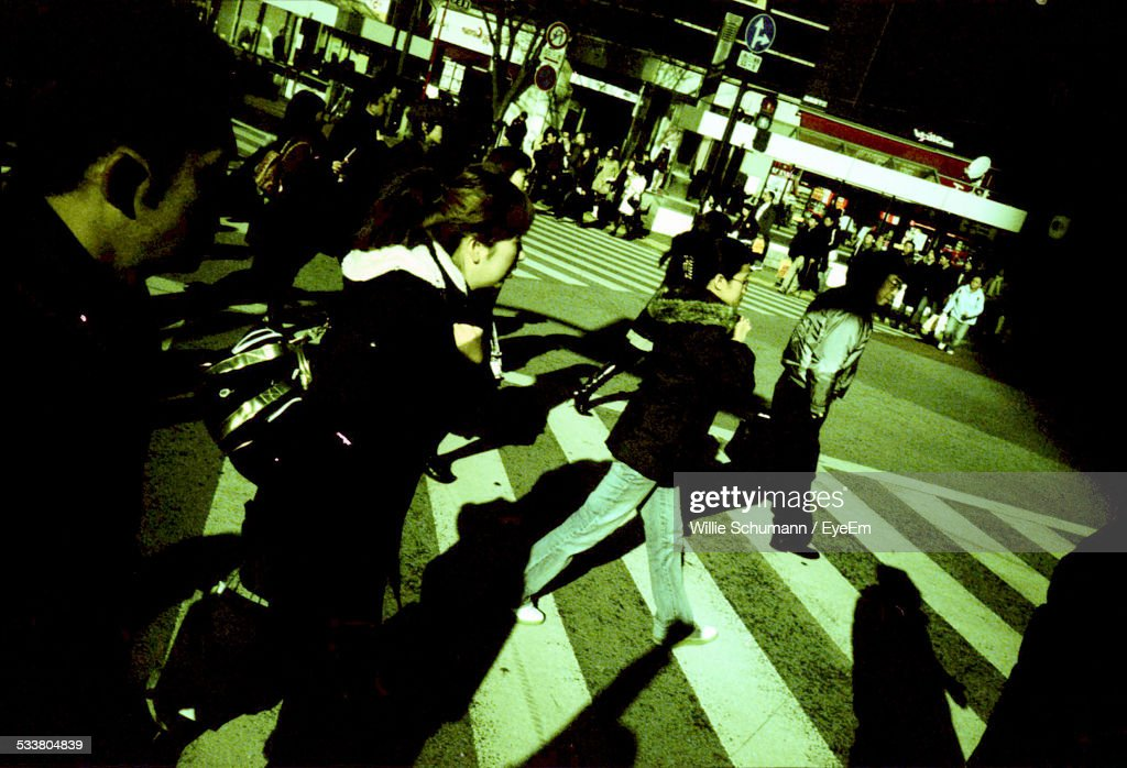Busy Zebra Crossing : Foto stock