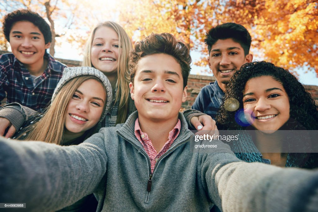 But first, let's take a selfie : Stock Photo