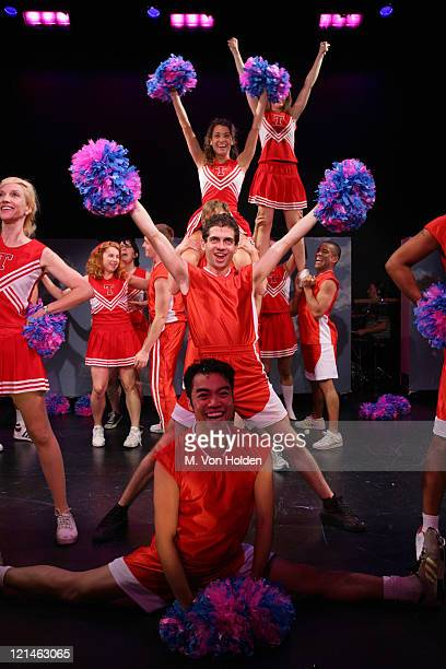 But I'm A Cheerleader Cast during Rehearsal for But I'm a Cheerleader The Musical at Theatre at Saint Clements in New York New York United States