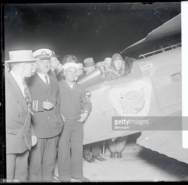 """But it may have been very significant at the time this picture was taken to Colonel Charles Lindbergh that his plane was named """"Anne."""" And it was..."""