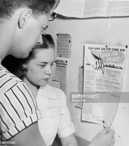 AUG 3 1950 ***** But they weren't signing Thursday Robert L Smith University of Denver law student from St Louis and Diane Wells a sophomore from...