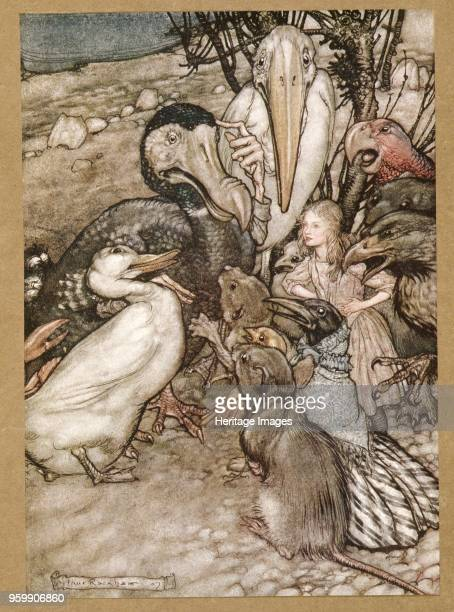 But who has won from Alice's Adventures in Wonderland by Lewis Carroll pub 1907 colour lithograph