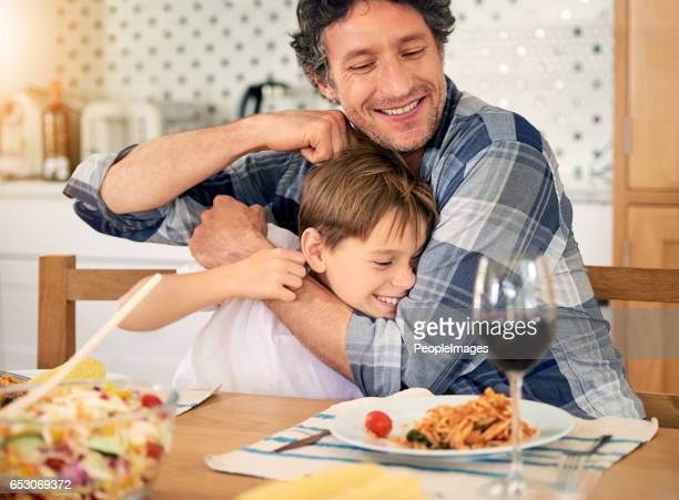 but you'll always be dad's little baby boy - teasing stock pictures, royalty-free photos & images