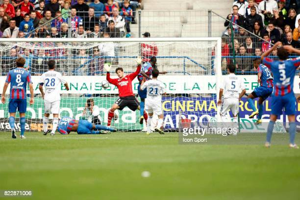 But Youssef EL ARABI Caen / Lyon 2eme journee de Ligue 1 Stade d Ornano Caen