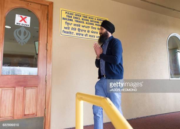 Buta Singh, a Punjabi asylum seeker, goes to pray before an immigration hearing at The Gurudwara Singh Sabha of Washington in Renton, Washington, on...
