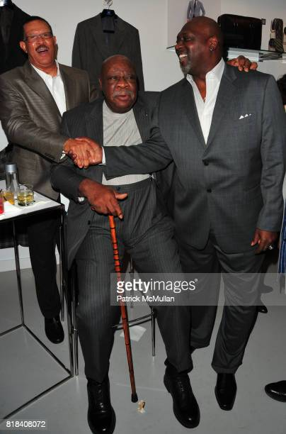 Butch Beard Cal Ramsey and Ottis Anderson attend JA Apparel Corp Debuts New JOSEPH ABBOUD Showroom at JA Apparel Corp Showroom 650 Fifth Avenue on...
