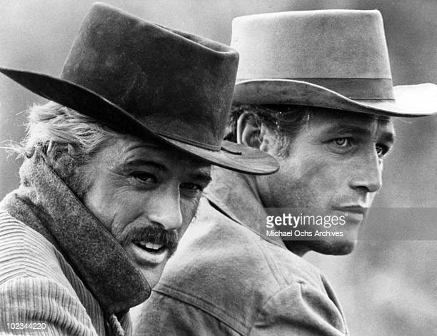 Butch Cassidy and the Sundance Kid in a scene from the movie Butch Casssidy And The Sundance Kid which was released on October 24 1969