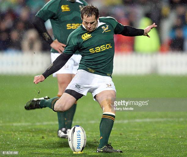 Butch James of the Springboks in action during the 2008 Tri Nations series match between the New Zealand All Blacks and the South African Springboks...