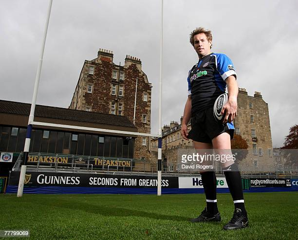 Butch James the former South African standoff who recently signed for Bath poses at the Recreation Ground on November 8 2007 in Bath England