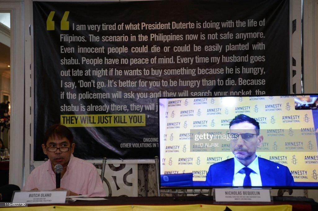 Butch Olano , Amnesty International section representative