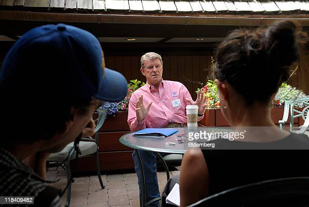 Butch Otter governor of Idaho speaks during an interview at the Allen Co Media and Technology Conference in Sun Valley Idaho US on Thursday July 7...