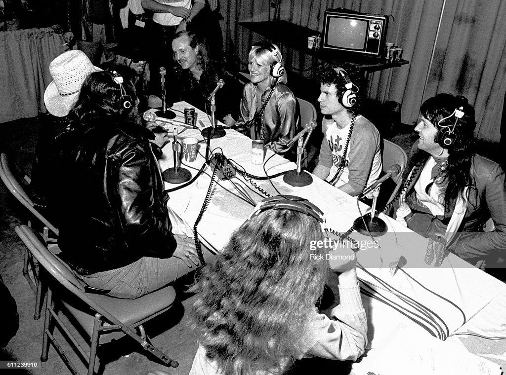 Butch Trucks (ABB), Bonnie Bramlett, Jimmy Hall (Wet Willie) and Mylon LeFevre attend CDB Jam VIII on January 17, 1981
