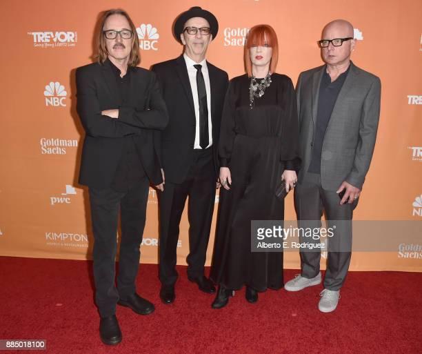 Butch Vig Duke Erikson Shirley Manson and Steve Marker of Garbage attend The Trevor Project's 2017 TrevorLIVE LA on December 3 2017 in Beverly Hills...
