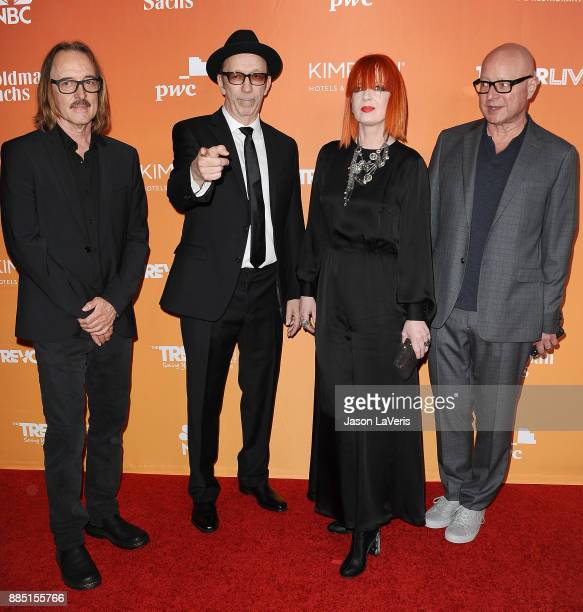 Butch Vig Duke Erikson Shirley Manson and Steve Marker of the band Garbage attend The Trevor Project's 2017 TrevorLIVE LA at The Beverly Hilton Hotel...