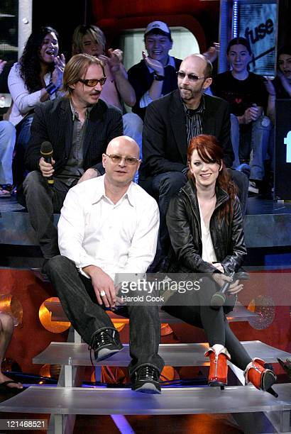 Butch Vig Duke Erikson Steve Marker and Shirley Manson of Garbage