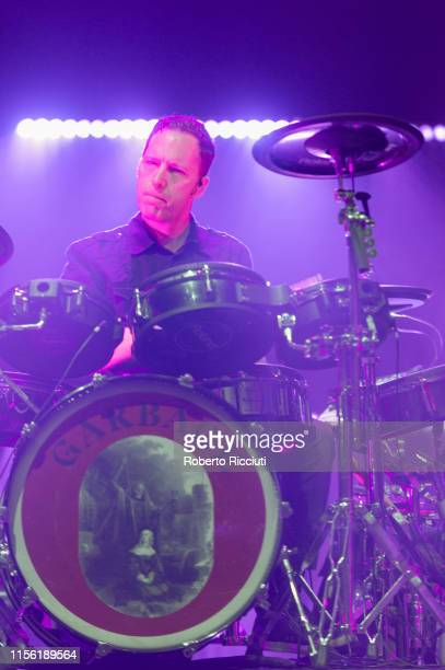 Butch Vig of Garbage performs on stage at Alhambra Theatre on July 17, 2019 in Dunfermline, Scotland.