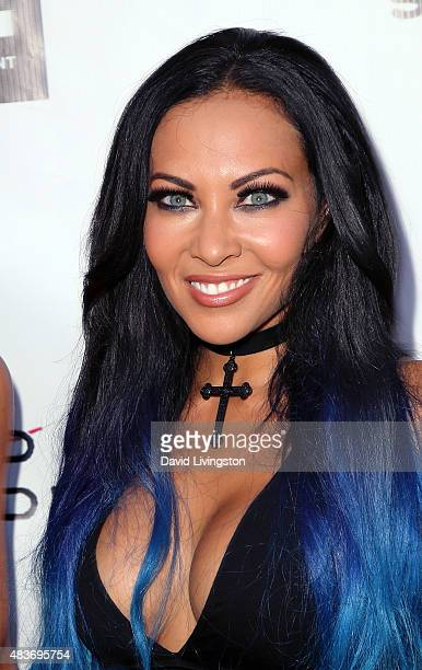 Butcher Babies band member Carla Harvey attends the premiere of Alleluia The Devil's Carnival at the Egyptian Theatre on August 11 2015 in Hollywood...