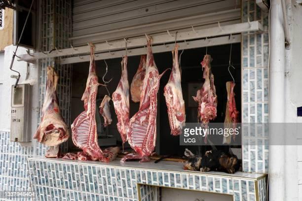 Butcher, Fes, Morocco.